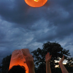 Launching our lantern
