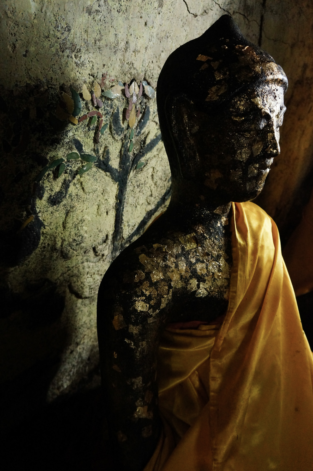 Buddha and bodhi tree