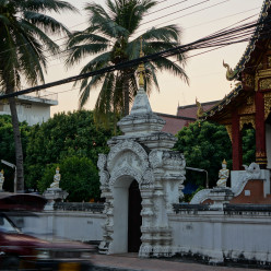 Temple and a passing songthaew