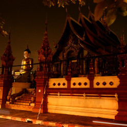 One of the many incredible temples in Chiang Mai, including ominous-looking Buddha