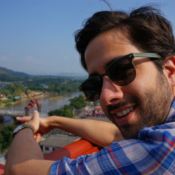 Jeff enjoying the view from the Wat Thaton overlook