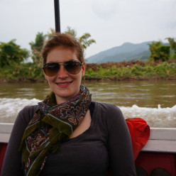 Our first longboat trip, a little different than we'd imagined