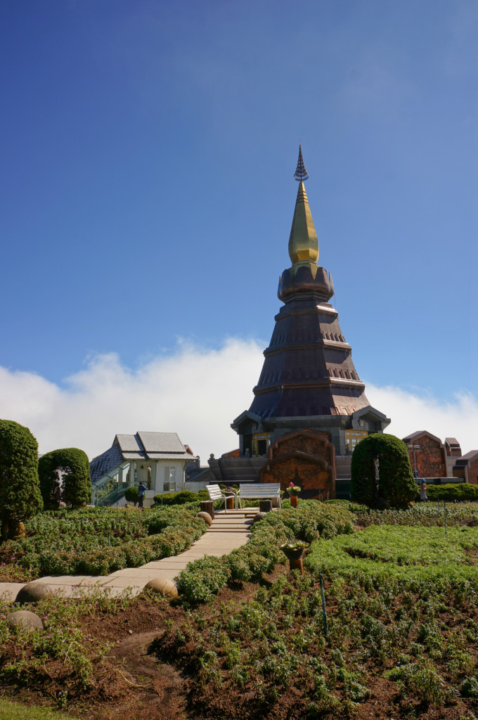 The recently restored Chedi dedicated to the beloved King of Thailand