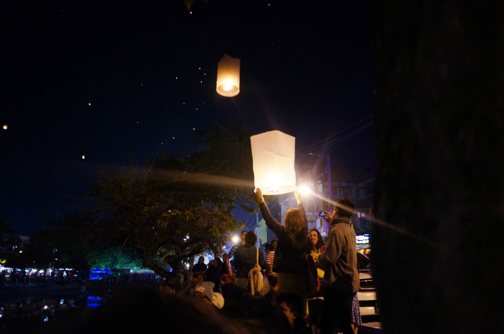Floating lanterns are popular for pretty much any holiday
